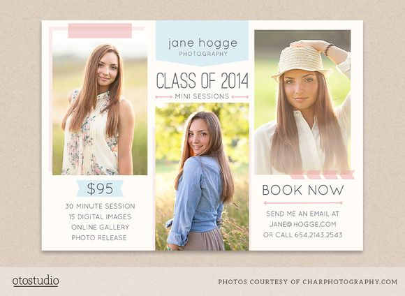 senior mini session flyer template by otostudio on graphicsmag