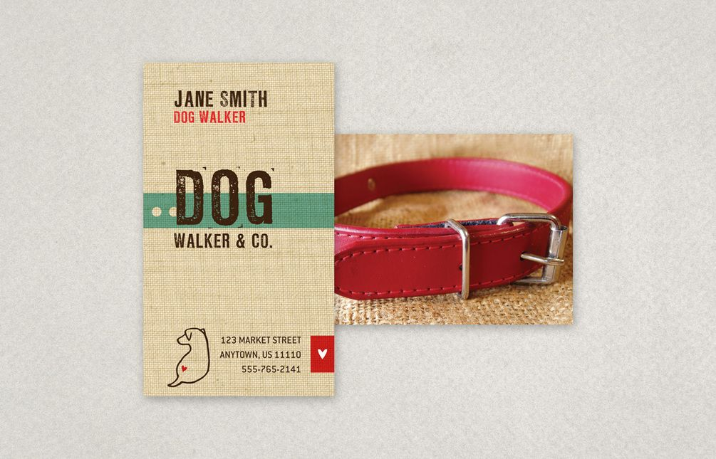 Friendly Dog Walking Business Card Template | Inkd | Dogs, Cats, Etc ...