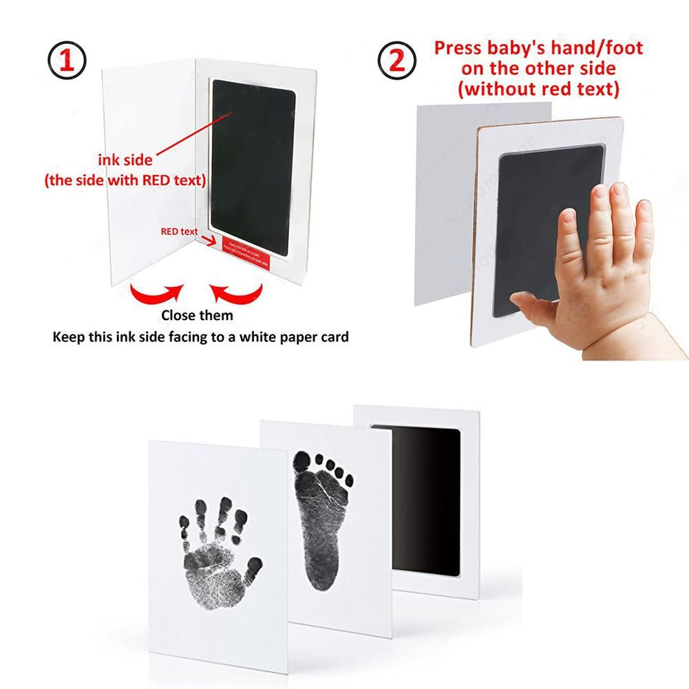 Baby Footprints Handprint Ink Pads Safe Non-toxic Ink Pads Kits For Baby  Shower Baby Paw Print Pad Foot Print Pad Inkless in 2020 | Baby handprint,  Diy baby stuff, Ink pads
