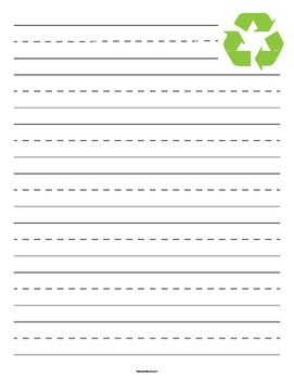 Lined Papers Recycling Symbol Primary Lined Paper  Writing  Pinterest  Teacher .