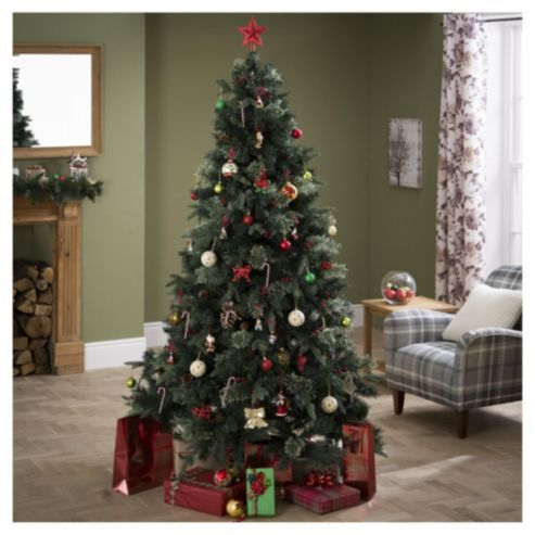 tesco luxury regency fir christmas tree 7ft