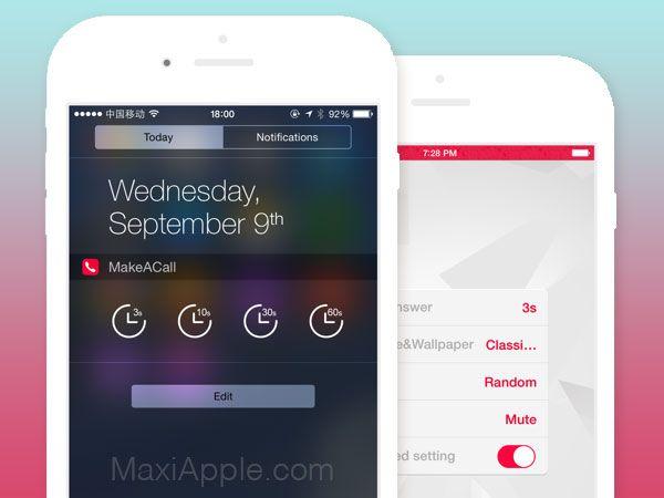 Make A Call iPhone Faux Appels Téléphoniques avec Voix