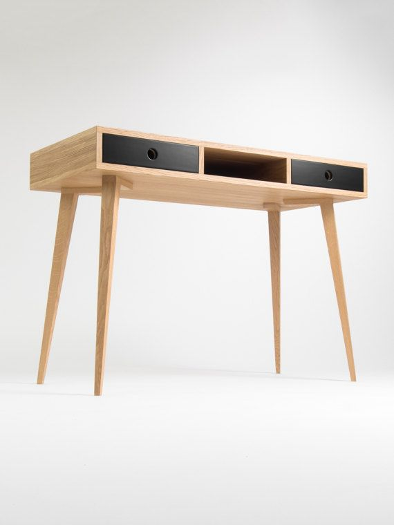 Small Desk Bureau With Black Drawers