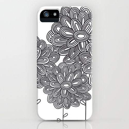 There is a lot of detail in this iPhone case but it is also simple. The oval shape is repeated over and over. And I am inspired by the black and white design because it makes it stand out more.