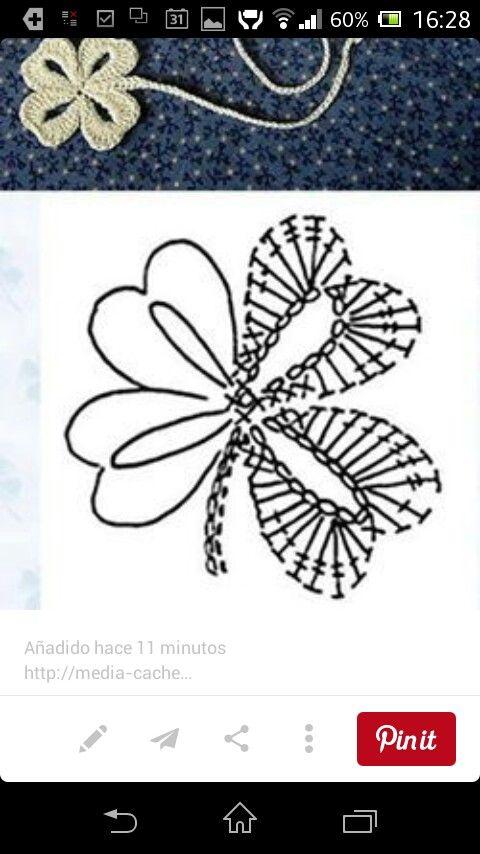 Adorno | Häkelmuster | Pinterest | Adornos, Ganchillo y Flores de tela