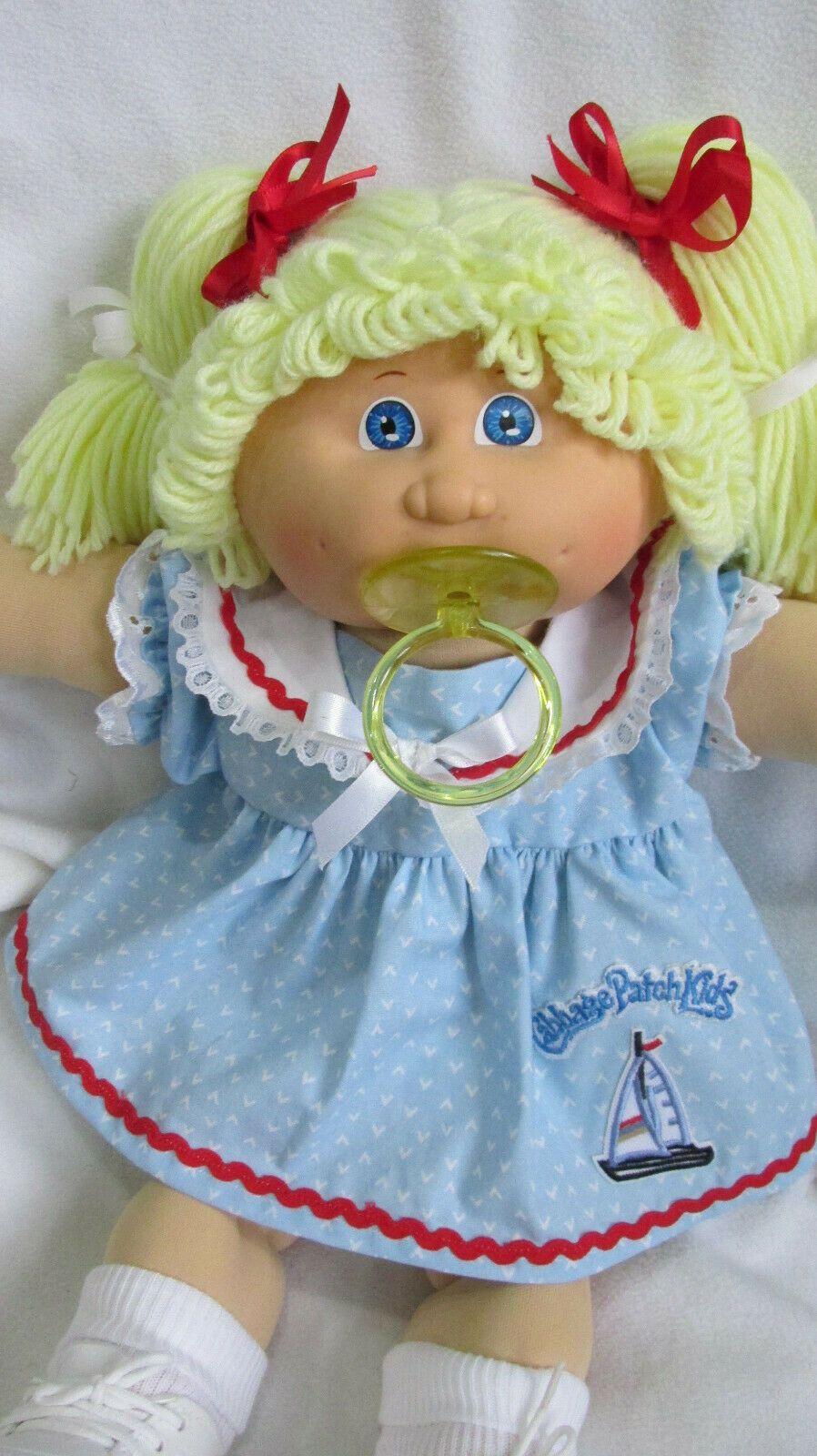 Vintage Original Cabbage Patch Cpk Doll Lemon Blonde Pacifier Girl Hm 4 Ebay Vintage Cabbage Patch Dolls Cabbage Patch Kids Dolls Pacifier Girl