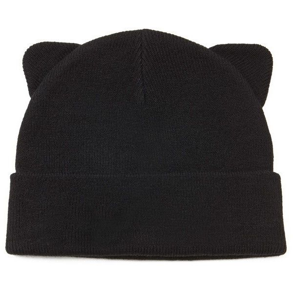 4bd049e29be3c Forever 21 Cat Ears Beanie (57 SEK) ❤ liked on Polyvore featuring  accessories