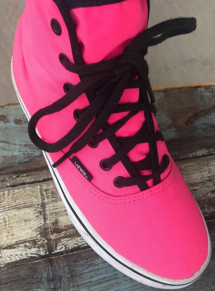 a4b1a41b Details about Vans Off The Wall Hot Pink High Tops Men's size 9 ...