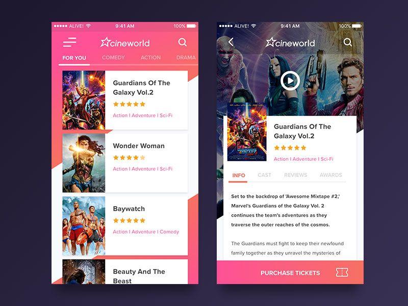 Cinema dating app
