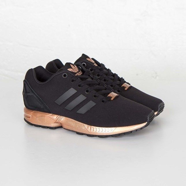 adidas zx flux black metallic copper womens trainers