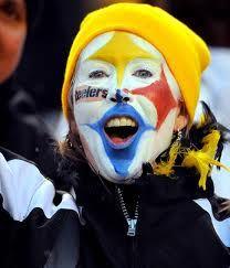 Fan With Steelers On Her Face Steelers Girl Steelers Football Steelers Fan