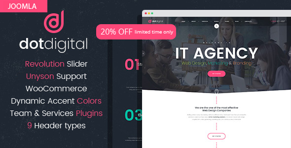 Review Download Dotcreative Web Design Agency Joomla Template On This Post Review Download Dotcreative In 2020 Joomla Templates Web Design Agency Joomla