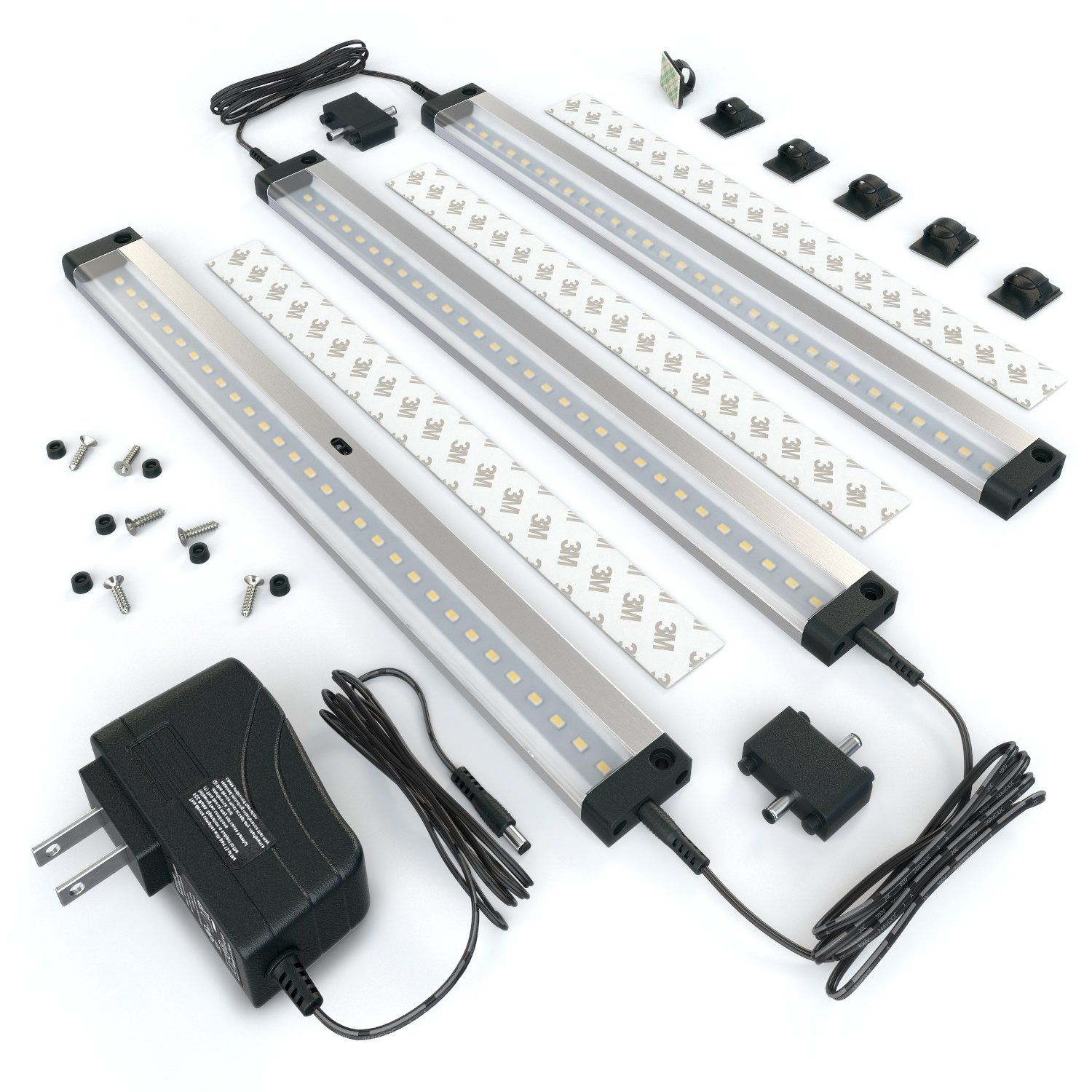 New] EShine 3 12 Inch Panels LED Dimmable Under Cabinet Lighting Kit
