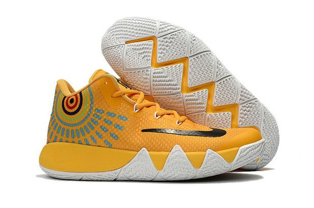Nike Kyrie 4 Authentic Nike Zoom Kyrie 4 Basketball Shoe Kyrie 4 Yellow  Black Kyrie Irving