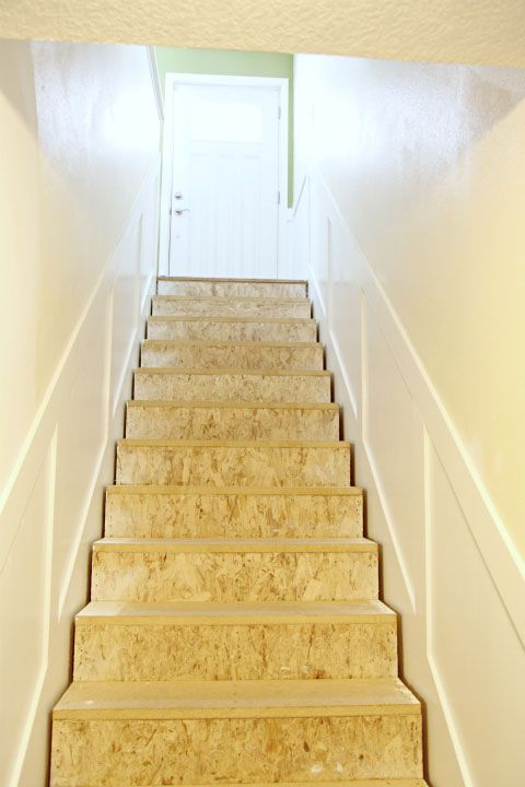 Secret Stairs No Longer A Secret Stair Makeover Basement Stairs Diy Wainscoting