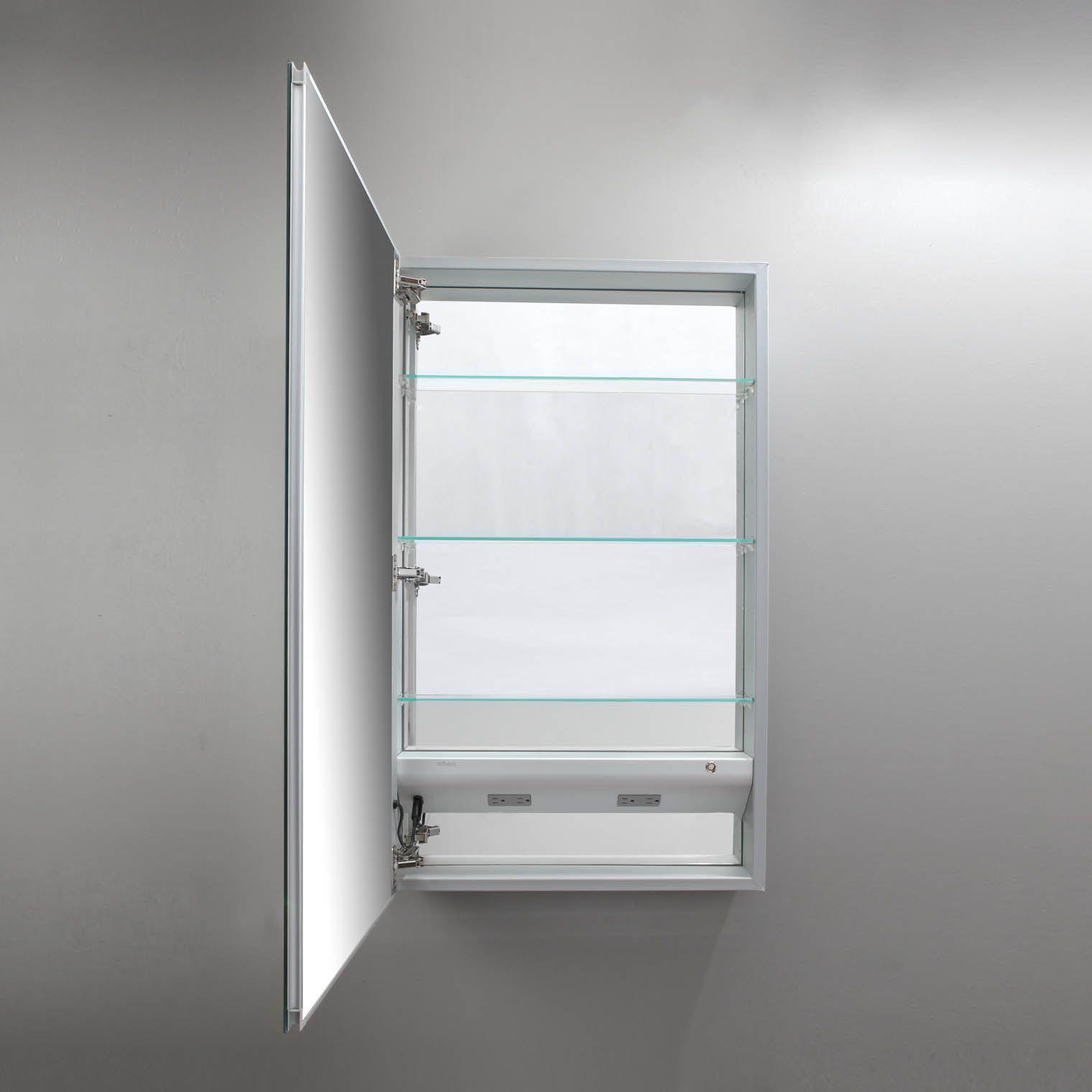 Buy Robern MP24D4FPLE M Series Plain Edge Mirrored Medicine Cabinet ...