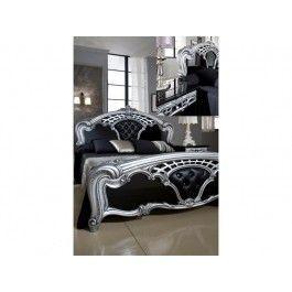 30499 MCS Sara Black and Silver Bed Frame Designer Italian