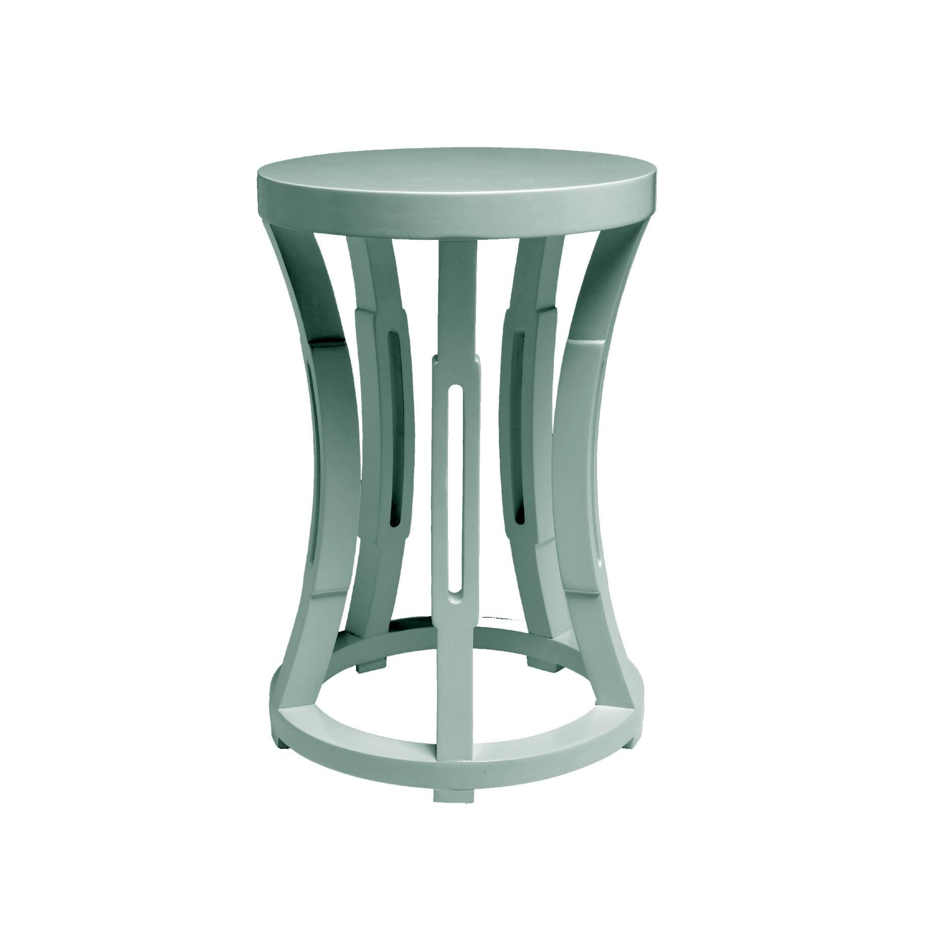 Hourglass Side Table in Light Blue