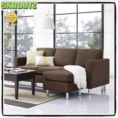 Best Brown Sectional Sofa Microfiber Chaise Lounge Living Room 400 x 300
