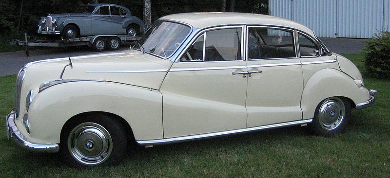 BMW 501, luxury saloon car – 1952 | BMW - 20TH CENTURY MODELS (upto ...