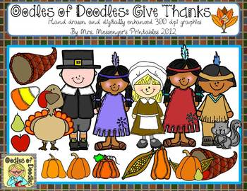 November give thanks. Oodles of doodles clip