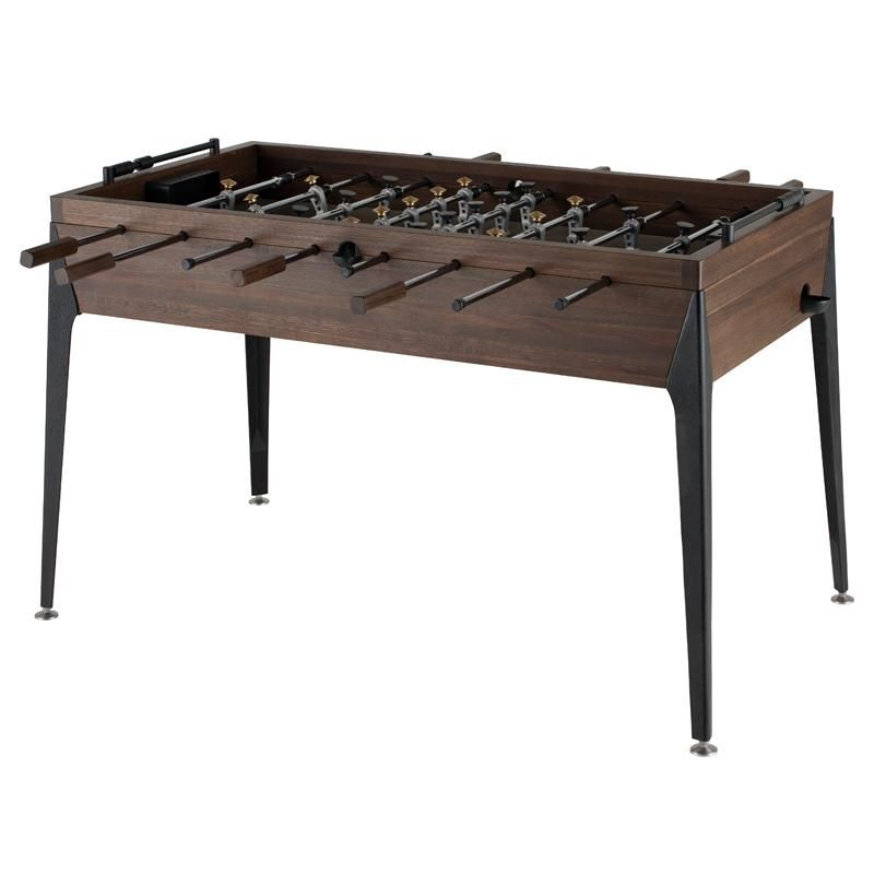 Foosball Table In Smoked Oak By District Eight Foosball Table