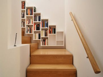 Wall Mounted Bookcase Design Ideas Pictures Remodel And Decor Deco Maison Rangement Maison Bibliotheque Escalier