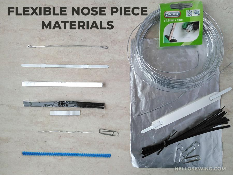 Photo of You can improve your face mask seal by adding bendable nose wire to your fabric …