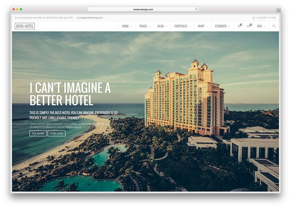 25 Top Hotel Booking Website Templates 2020 Hotel Website