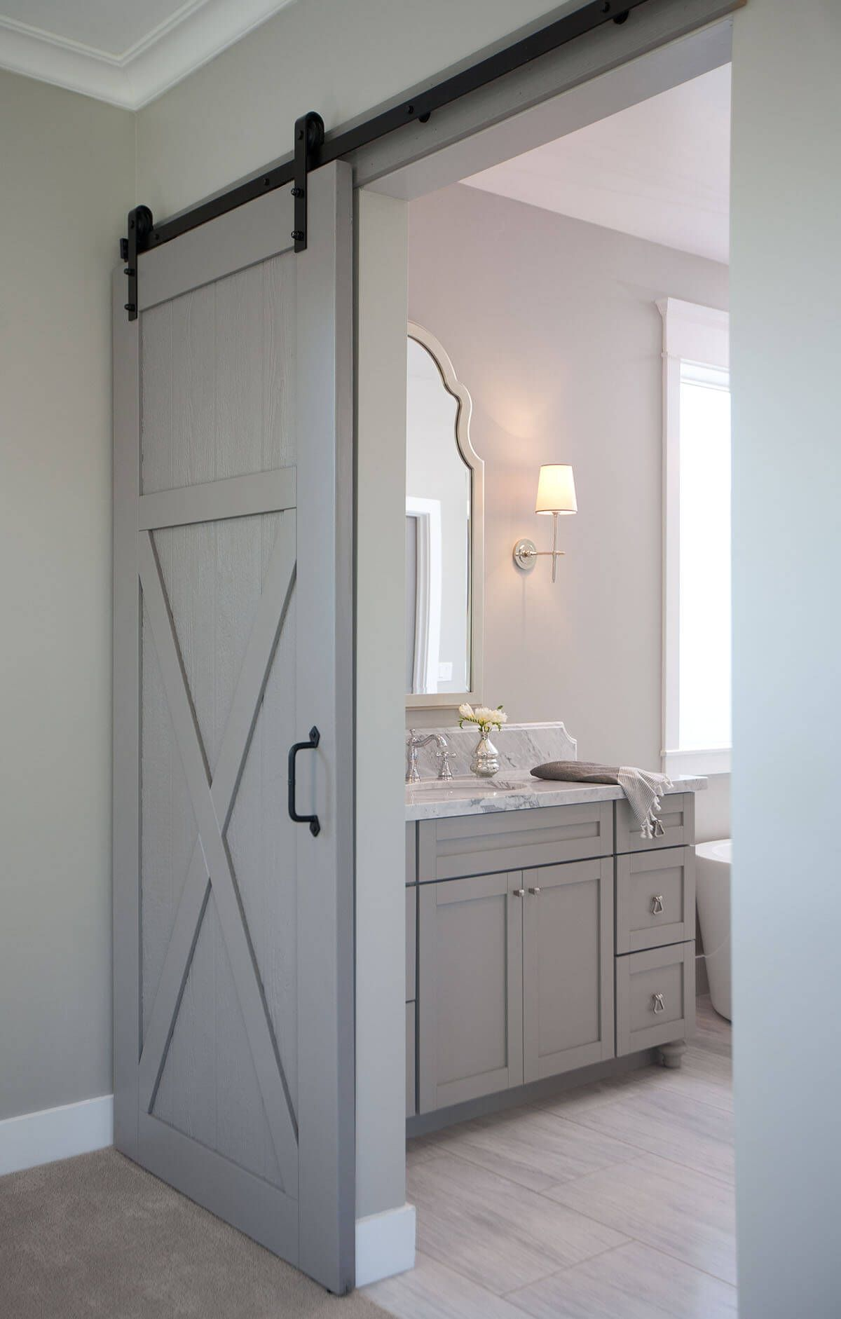 Bathroom Barn Door Ideas.Country Chic 29 Sliding Barn Door Ideas Light Grey