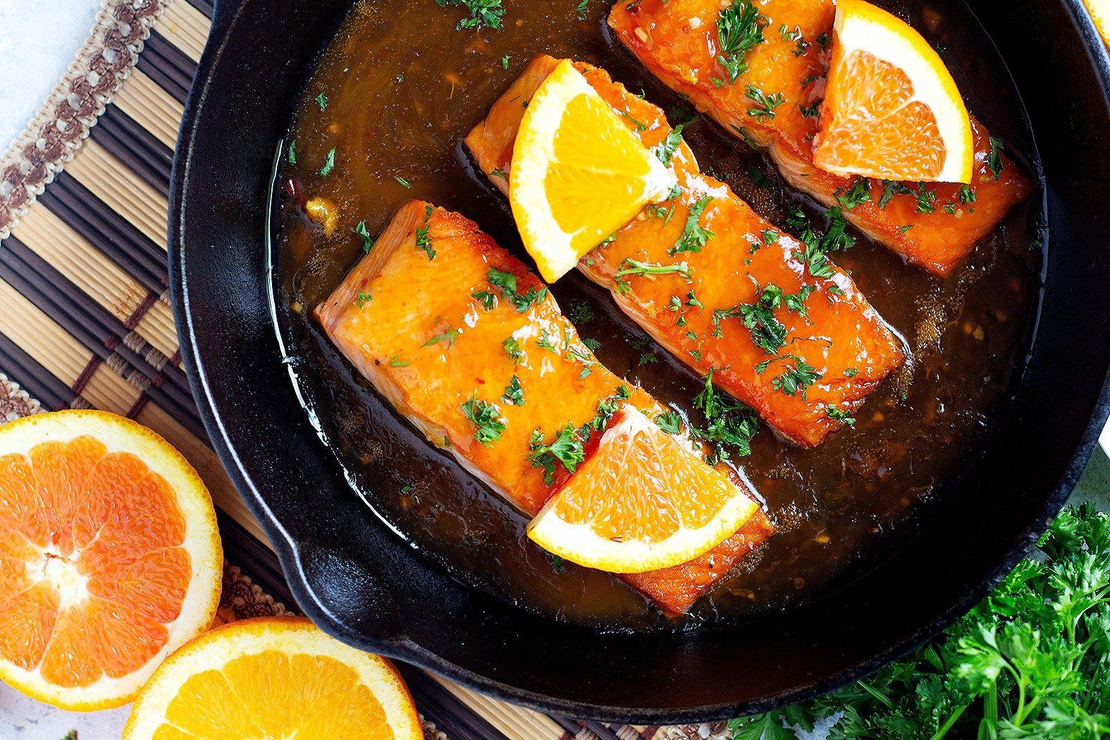 Crispy Orange Glazed Salmon Recipe • Unicorns in the Kitchen