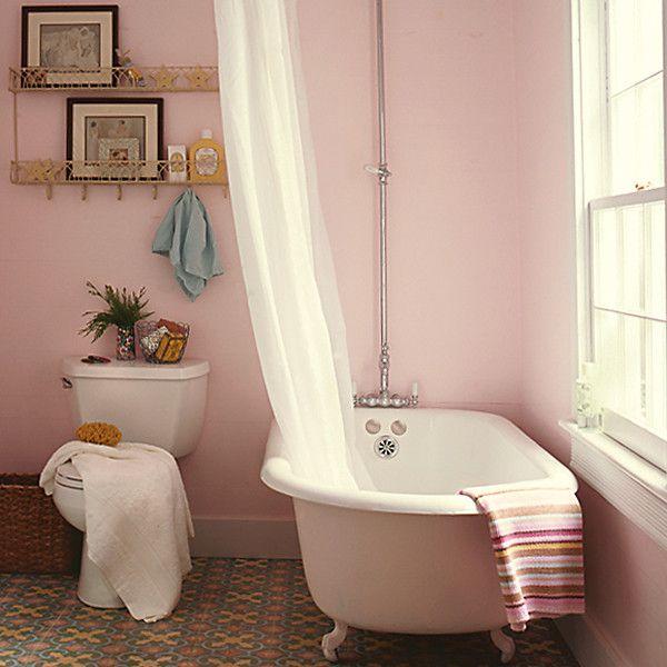 Pink Tub And Matching Walls