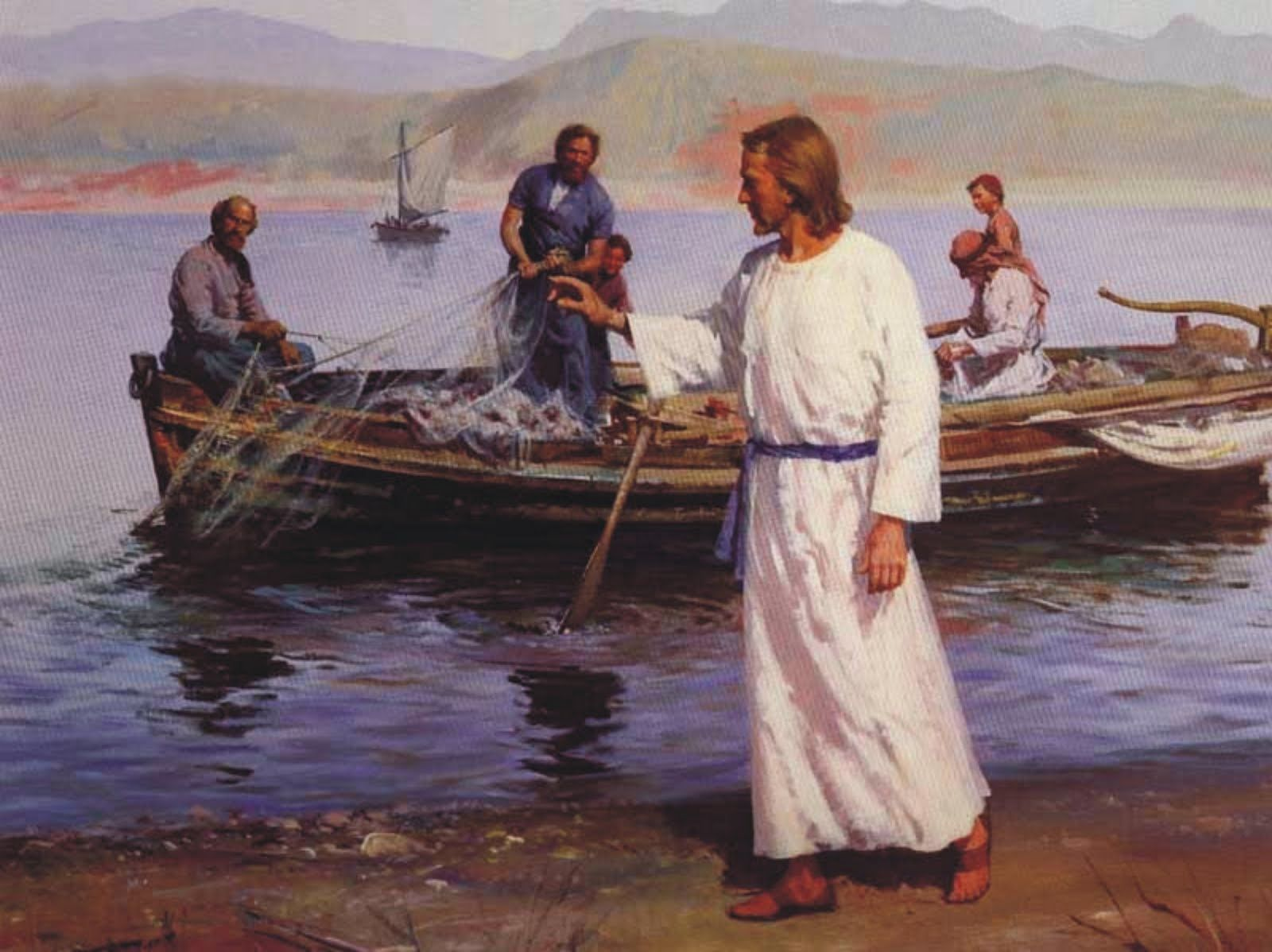 Jesus called his first disciples, Simon Peter and brother