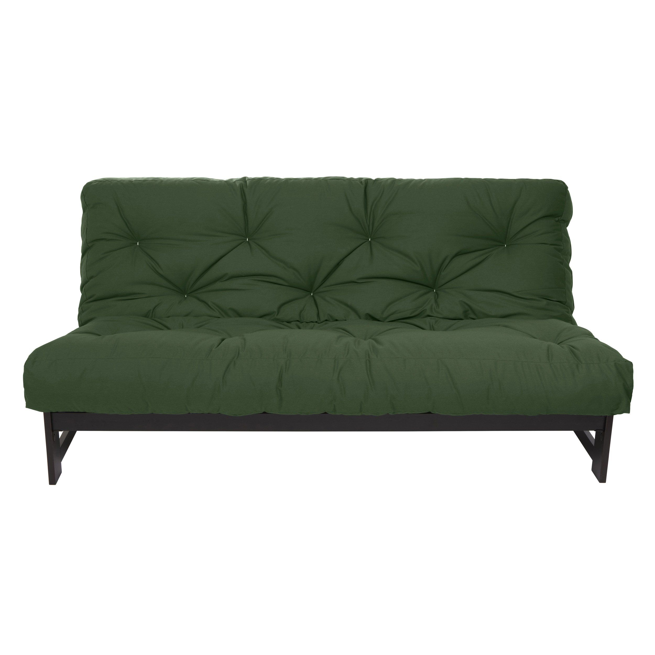 mozaic company queen size hunter green 10inch dual gel futon