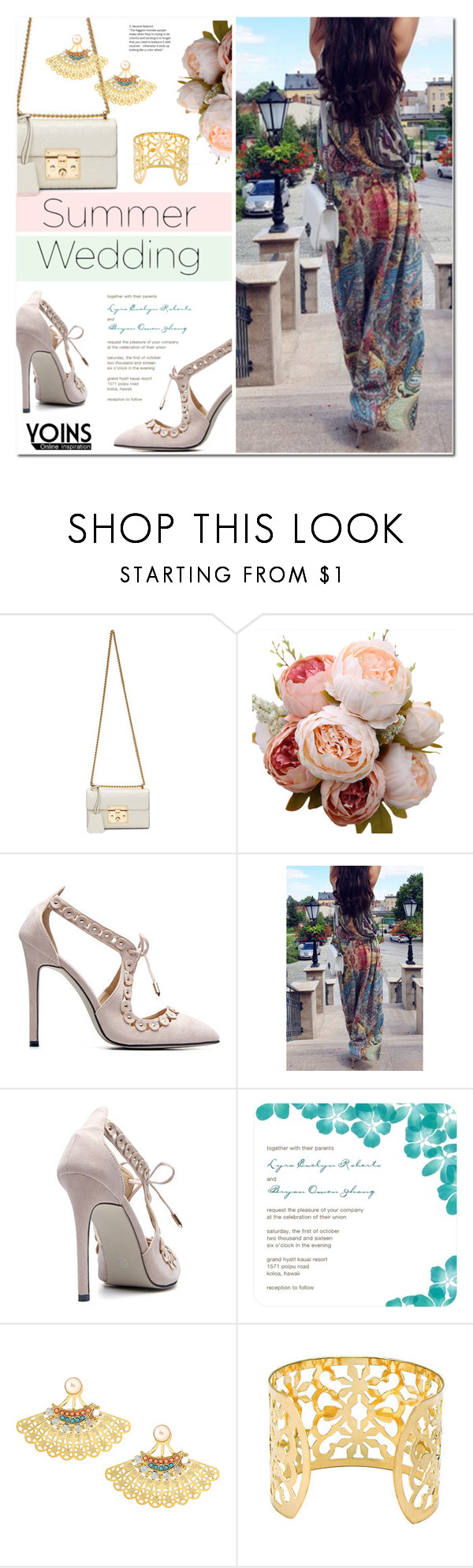 """""""Say I Do: Summer Weddings with YOINS"""" by sofi-danka ❤ liked on Polyvore featuring Gucci, yoins, yoinscollection and loveyoins"""