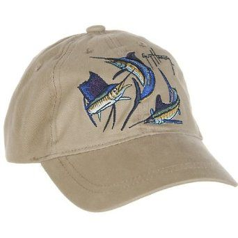 7e5764a9baa45 The Guy Harvey Grand Slam Children s Hat is constructed of 100% washed  cotton twill with embroidered crown and Guy Harvey  signature  on bill.