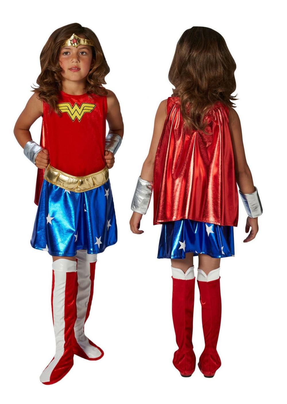 Girls Supergirl Superwoman Superhero Book Day Week Fancy Dress Costume Outfit
