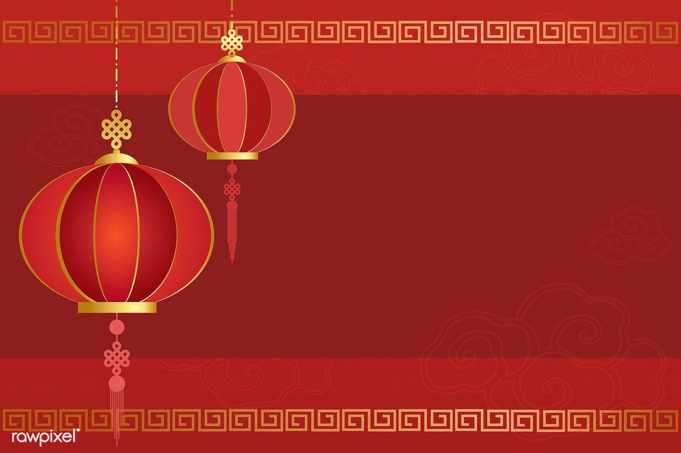 Chinese New Year 2019 Greeting Background Free Image By Rawpixel Com Kappy Kappy Chinese Background Vector Free Chinese New Year Greeting