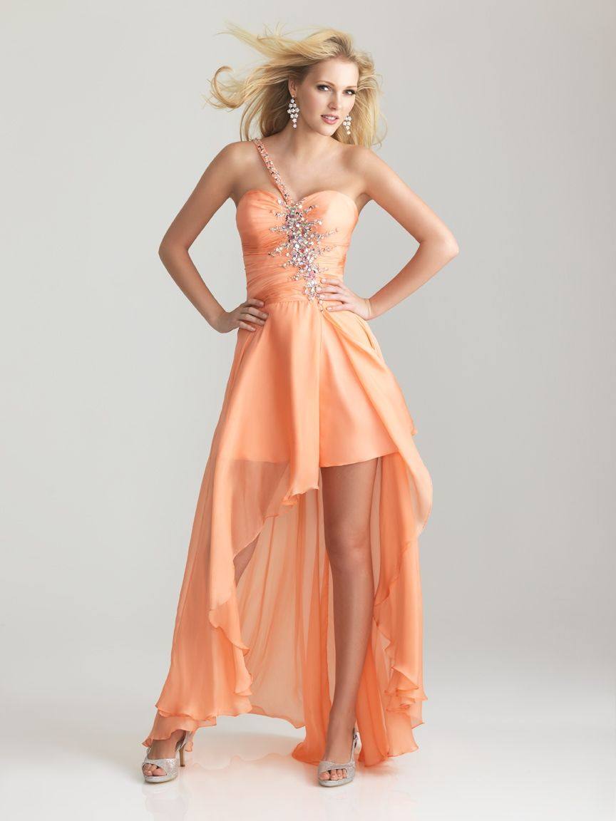 Night moves style peach prom dress fashion pinterest