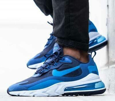 New Nike Air Max 270 React Mens Blue White All Sizes Ebay New Nike Air Nike Air Nike