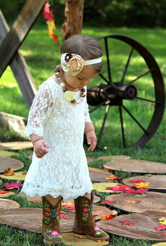 582c248a4b1c The Simply Ivory Lace Flower Girl Dress by KateGraceRose on Etsy ...