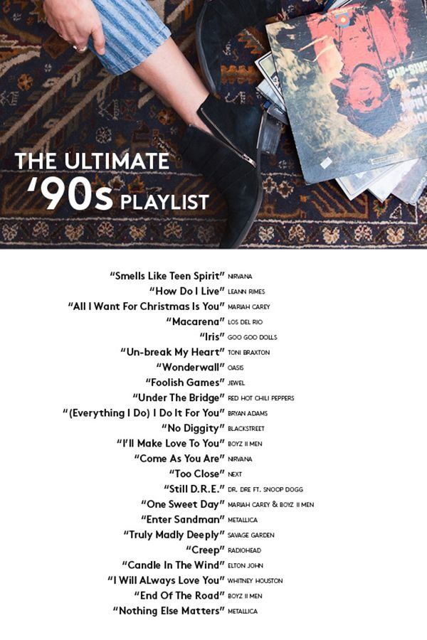 The Most Played 90s Songs On Spotify Will Shock You 90s Songs Music Playlist Nineties Music