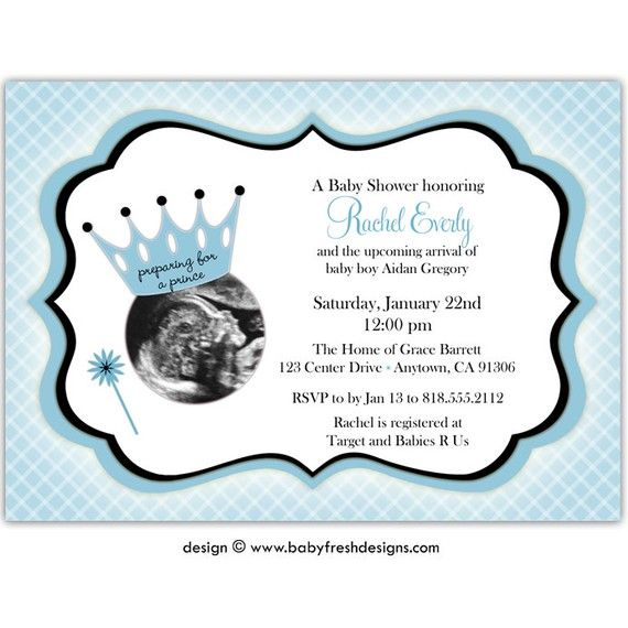 preparing for a prince ?? can this be done for twins ?? digital, Baby shower invitations