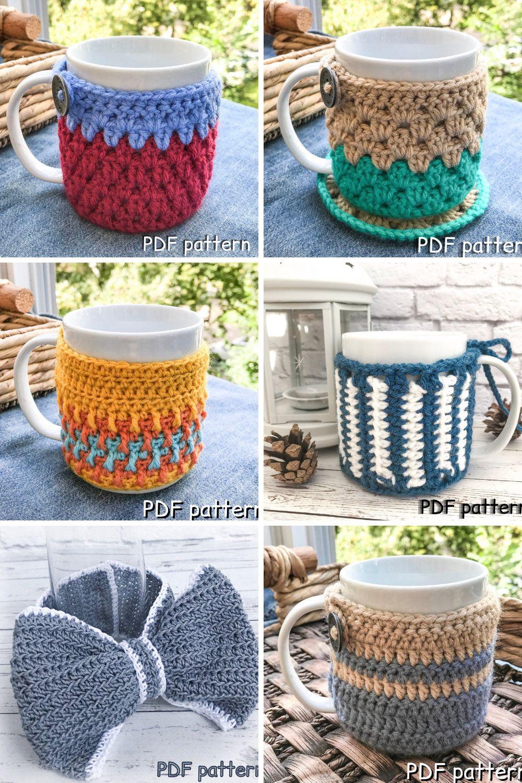 CROCHET PATTERN cup cozy pattern mug cozy cup sleeve mug sleeve mug warmer easy DIY gift easy pattern small gift crochet cozy cute present