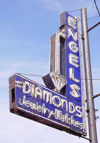 Engel's Jewelry Store Neon Sign, Angle - Grand Rapids ...