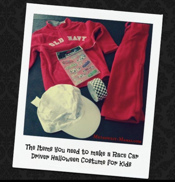 homemade race car driver halloween costume for kids metrowest mamas