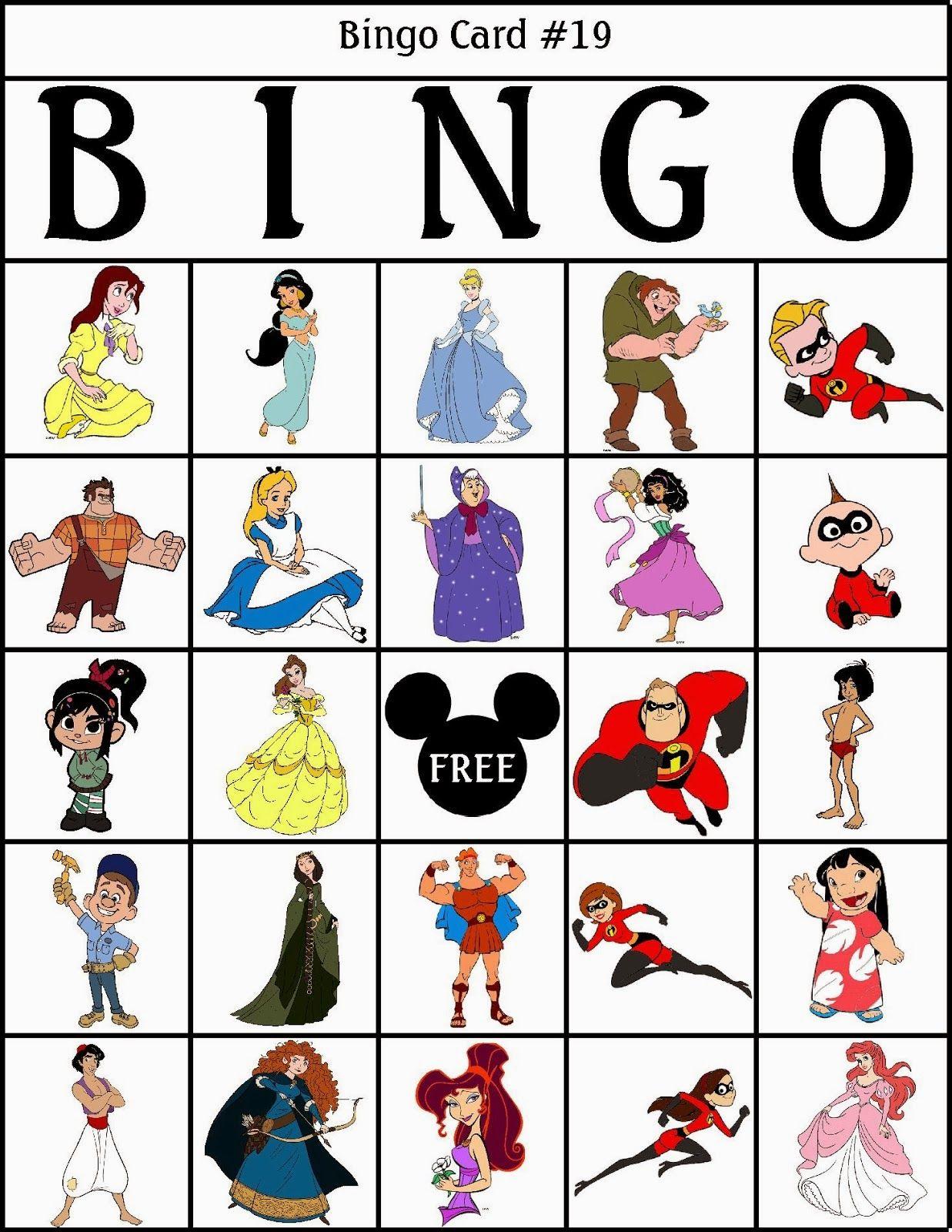 Bingo de Personajes Disney, para Imprimir Gratis. | Juegos ...