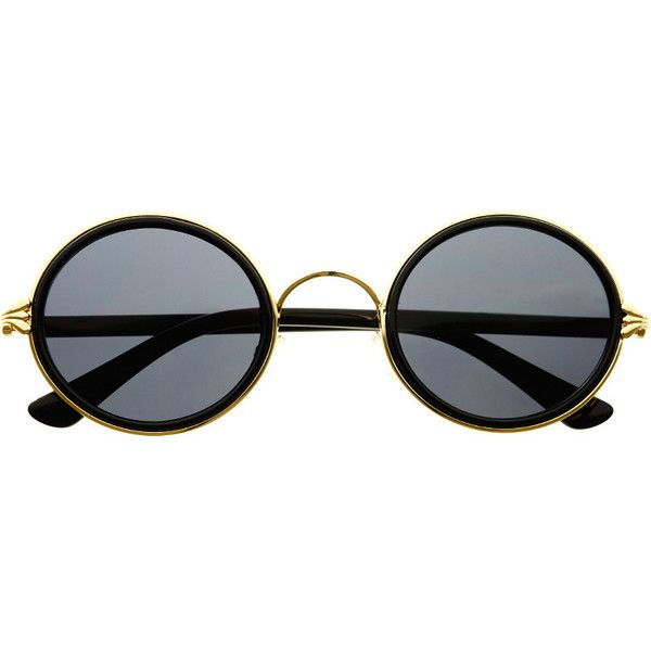 Retro Vintage Style Fashion Circle Round Sunglasses R3160 ($9.95) ❤ liked on Polyvore