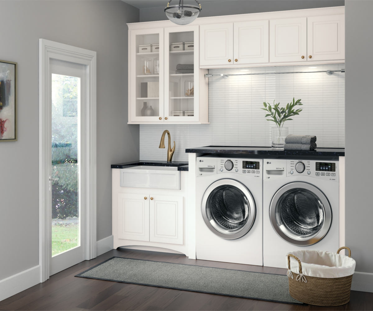 Kitchen Utility Room Renovation In Claygate: Laundry Room Design, Laundry