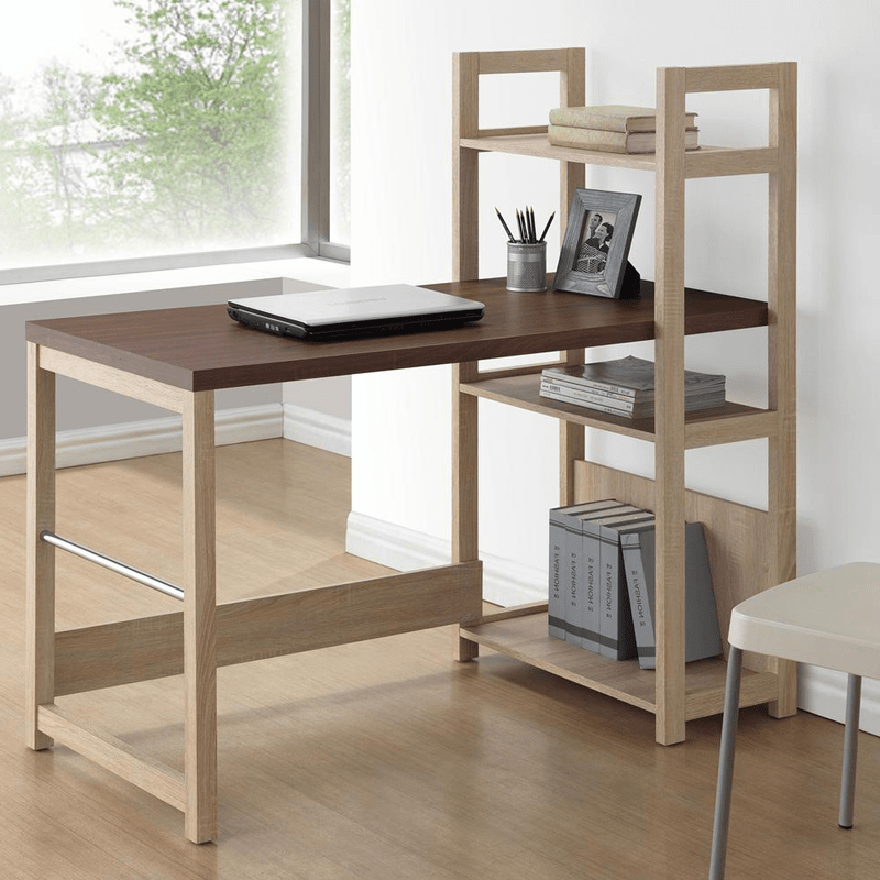 This Study Table Is Efficiently Designed To Enhance Its Use And Can Be Used By Every Age Group Michelle Desk Bookshelf Has 3 Storage